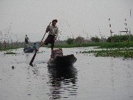 Boating with one leg can only be seen on Inle Lake